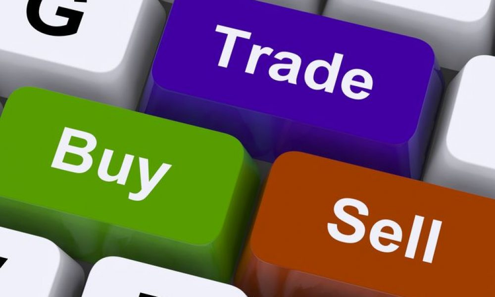 14562760 - buy trade and sell keys representing commerce online