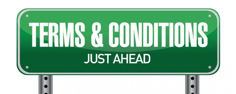 20530534 - terms and conditions road sign illustration design over white